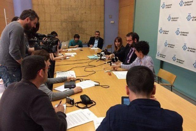 Declaración del alcalde de Mataró David Bote