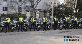 La Policía Local de Palma renueva su flota con 30 motos y dos furgones nuevos