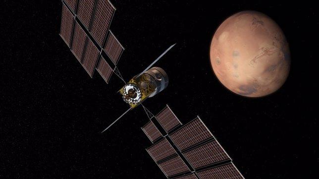 Vehículo para alcanzar Marte