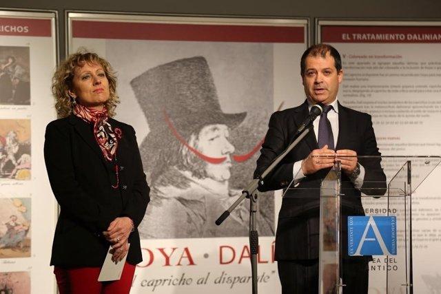 Díaz Tezanos en la inauguración de la muestra