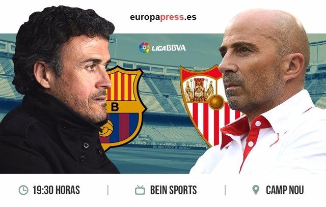 Horario y dónde ver el Barcelona – Sevilla | Jornada 30 Liga Santander
