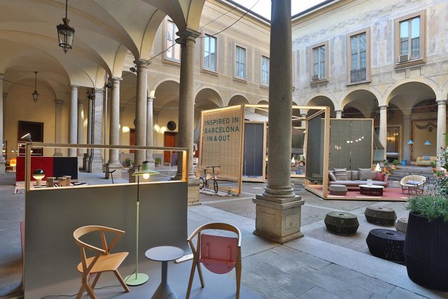 Espacio dedicado a Barcelona en la Milano Design Week