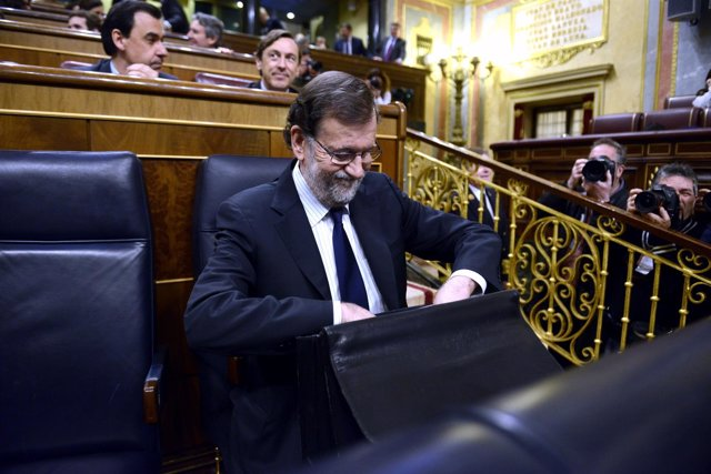 Mariano Rajoy en el Pleno del Congreso - 22 de marzo.