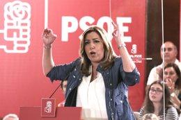 Susana Díaz participa en un acto en Camas