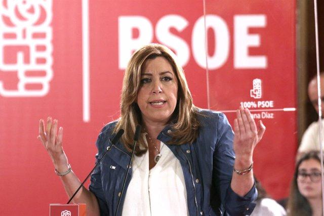 Susana Díaz, en un acto en Camas