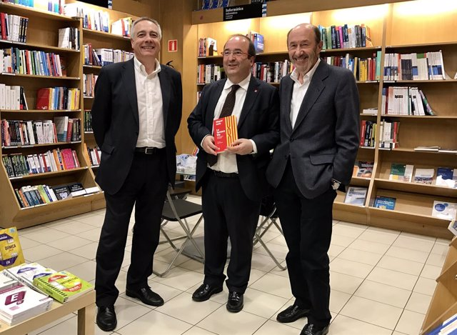 Pere Navarro, Miquel Iceta (PSC), Alfredo Pérez Rubalcaba (PSOE)