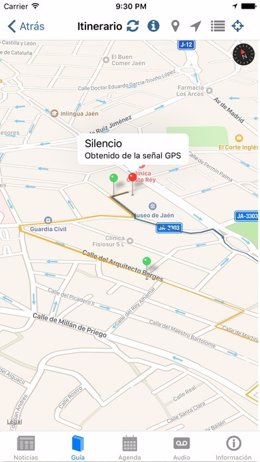 Vista de la App de Pasión en Jaén