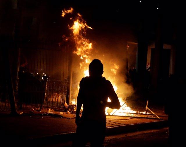 Protestas en Paraguay
