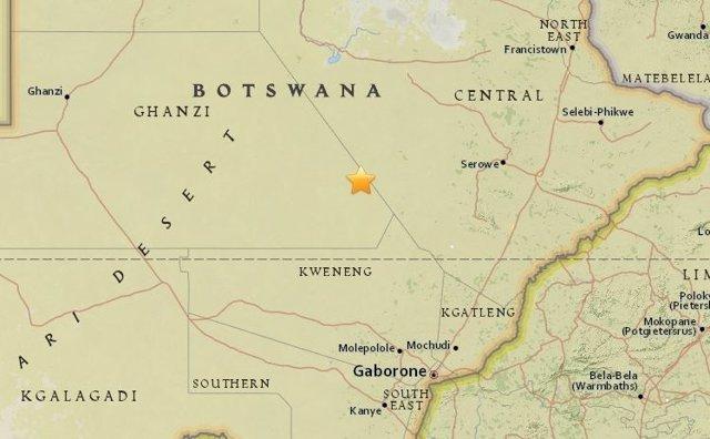 Terremoto de magnitud 5 en Botsuana