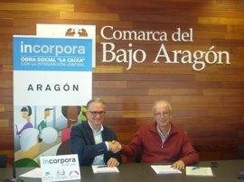 La Comarca del Bajo Aragón renueva su unión al programa Incorpora de la Obra Social 'la Caixa'
