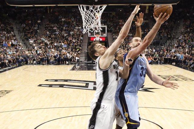Los hermanos Gasol en el Memphis Grizzlies - San Antonio Spurs