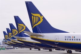 Ryanair prevé crecer un 13% en pasajeros en el ejercicio 2017-2018 en Mallorca