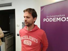 """Podemos cree que los PGE """"desprecian"""" a Extremadura y dice a Vara que sus políticas son """"idénticas"""" a las del PP"""