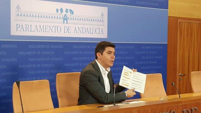 El portavoz adjunto de Cs en el Parlamento andaluz, Sergio Romero