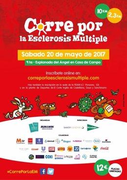 La carrera popular 'Corre por la esclerosis múltiple' se celebrará el 20 de mayo