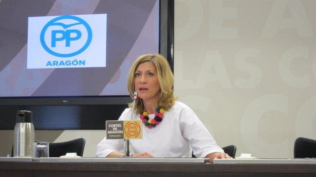 La portavoz del PP en las Cortes y secretaria general del PP-Aragón, Mar Vaquero