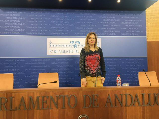 La portavoz adjunta de Podemos en el Parlamento andaluz, Carmen Lizárraga