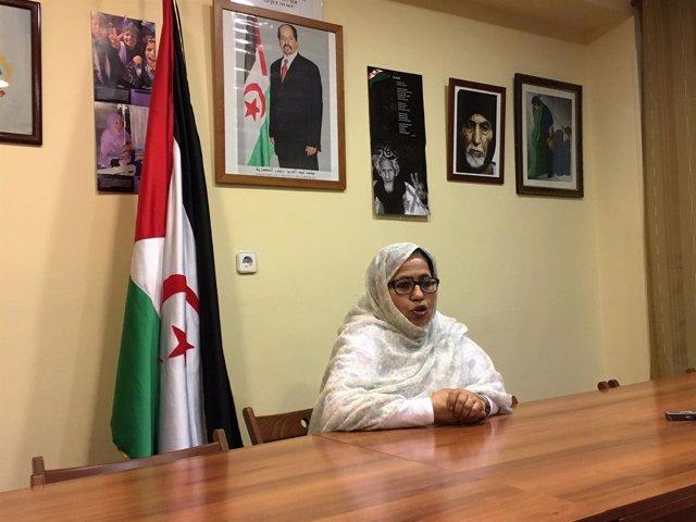 La representante del Frente Polisario en España, Jira Bulahi Bad