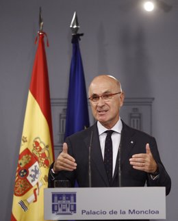 Josep Antoni Duran i Lleida  en Moncloa tras reunirse con Rajoy