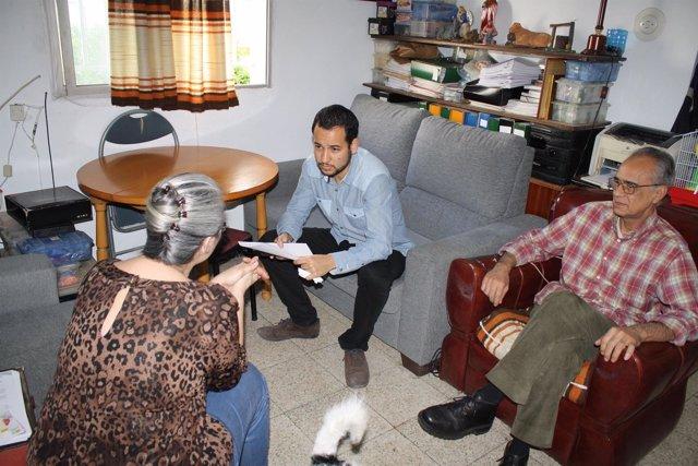 Rojas reunido con los afectados.