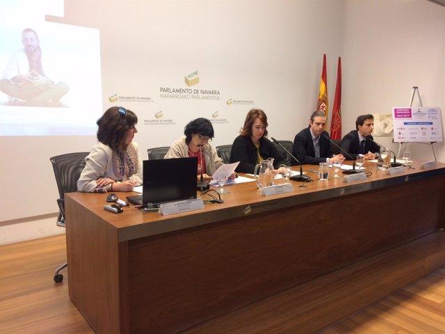 Jornada sobre Parkinson en el Parlamento de Navarra.