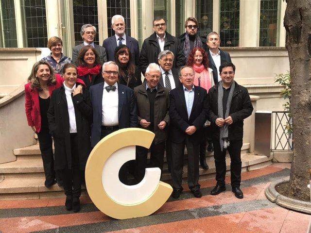 Foto de familia de los Premis Nacionals de Cultura 2017