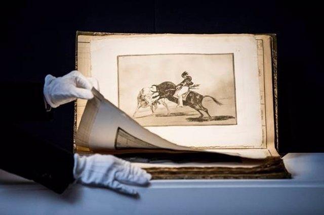 El conjunto completo de La Tauromaquia de Goya