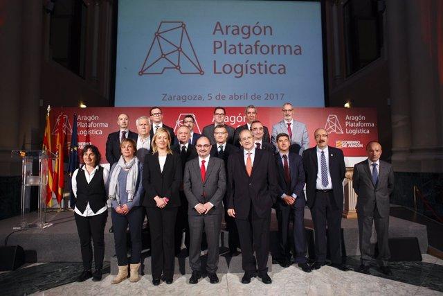 Lambán ha presentado hoy la marca 'Aragón, Plataforma Logística'