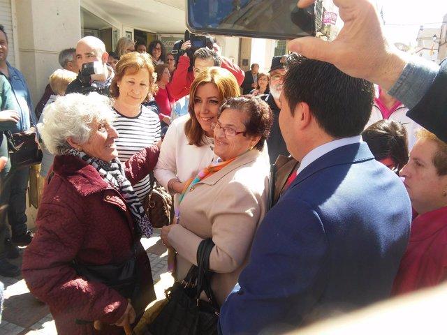 Susana Díaz en Peñarroya-Pueblonuevo