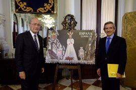 La Semana Santa de Málaga cuenta con un sello de Correos con la imagen de Jesús Cautivo