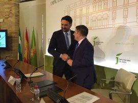 Diputación y Junta firman un protocolo para la construcción del palacio de deportes Olivo Arena