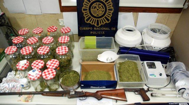 Dos detenidos en Zaragoza por tráfico de drogas