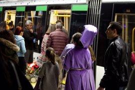 Metro de Málaga ampliará su horario en Semana Santa y prevé alcanzar 150.000 viajeros