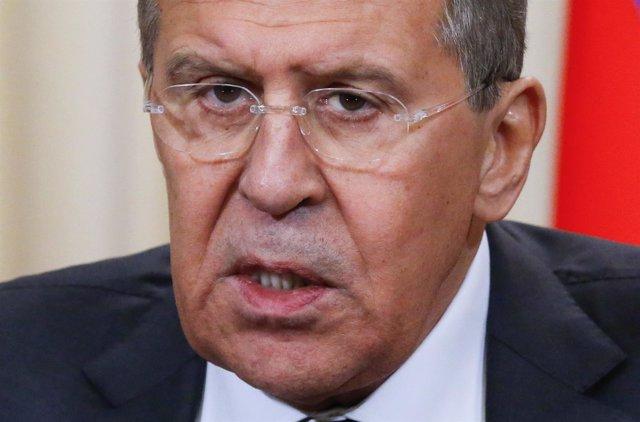 El ministro de Exteriores ruso, Sergei Lavrov
