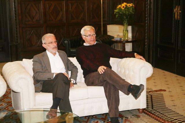 El rector Morcillo y el alcalde Ribó