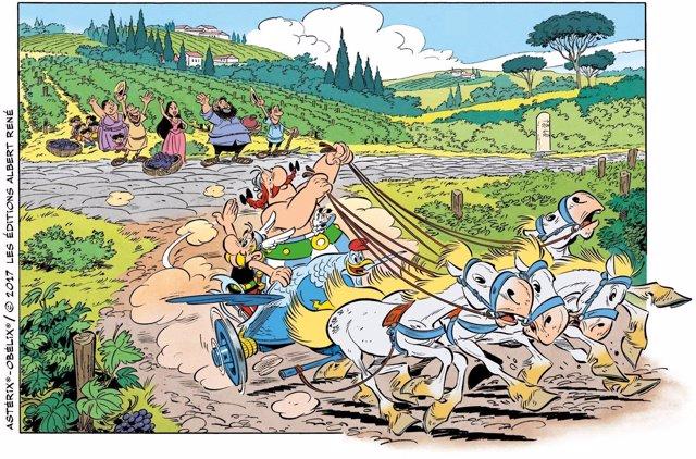 Viñeta de Astérix en Italia