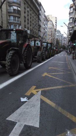 Manifestación de los agricultores