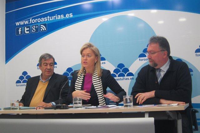 Francisco Álvarez-Cascos, Cristina Coto e Isidro Martínez