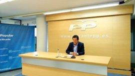Ciscar anuncia su candidatura para optar a la reelección como presidente del PP provincial de Alicante