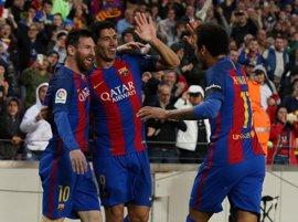Triunfo autoritario del Barça para aferrarse a la lucha