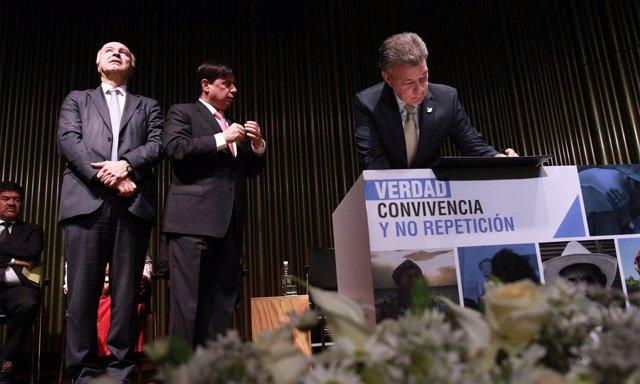El presidente de Colombia, Juan Manuel Santos