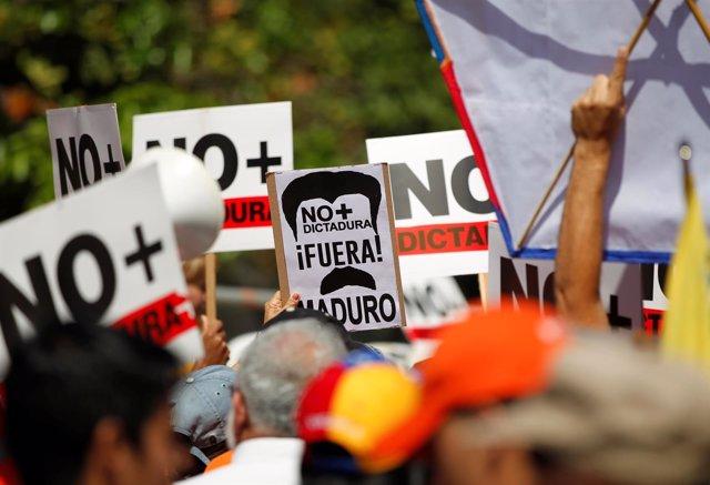 Manifestación contra Maduro en Caracas