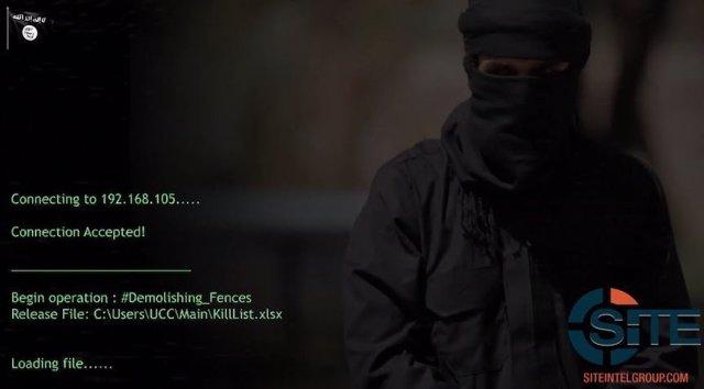 Captura de vídeo de 'Cibercalifato' de Estado Islámico
