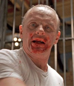 Anthony Hopkins es Hannibal Lecter en El silencio de los corderos