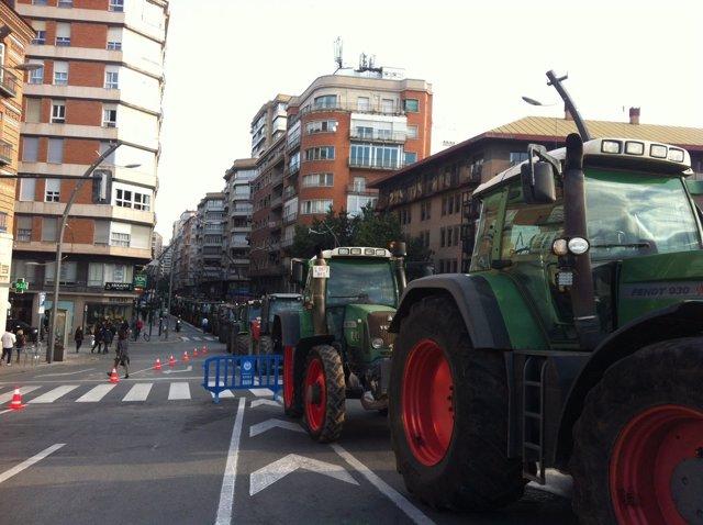 Tractores, protesta de los agricultores