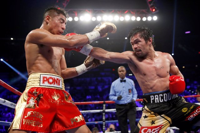 Manny Pacquiao Jessie Vargas campeón welter
