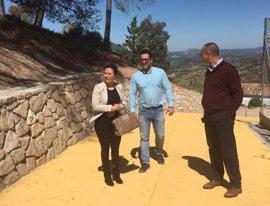 La Diputación de Cádiz comprueba la finalización del nuevo paseo de El Gastor