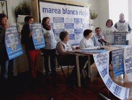 """Marea Blanca llama a concentrarse mañana y a poner sábanas en las ventanas contra la """"mercantilización"""" de la sanidad"""