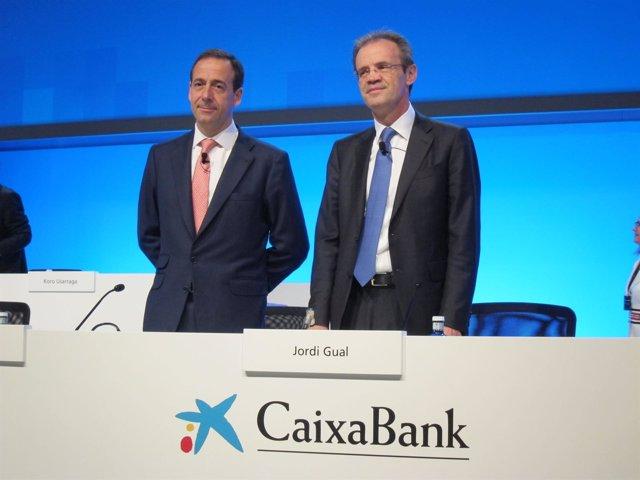 Gonzalo Gortázar, Jordi Gual (CaixaBank)