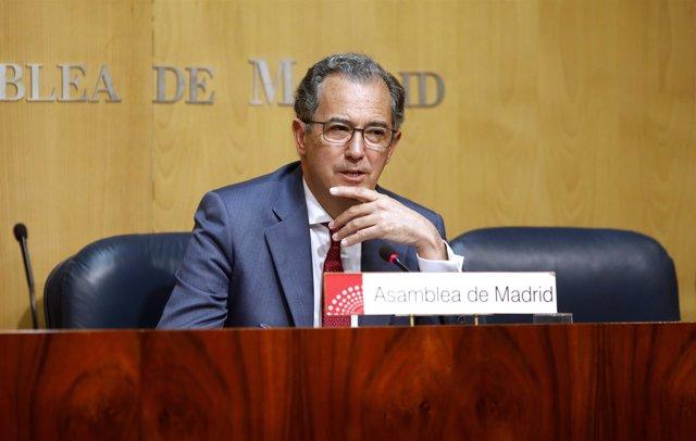 Enrique Ossorio, portavoz del PP en la Asamblea de Madrid
